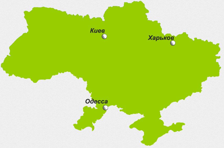 Карта дилерской сети компании Исполин